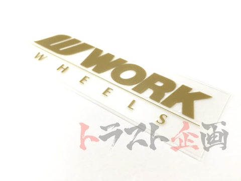 "WORK Wheel Spoke Sticker 3.9""x1.2"" - Gold #979191014 - Trust Kikaku"