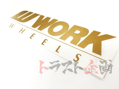 "WORK Body Decal Sticker 250mm Gold 9.8""x2.3"" #979191034 - Trust Kikaku"