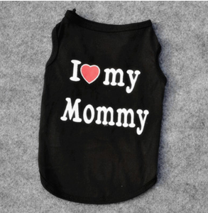 Cute Cat Clothes Love Mommy Daddy
