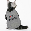 Image of Cute Cat Clothes Love Mommy Daddy