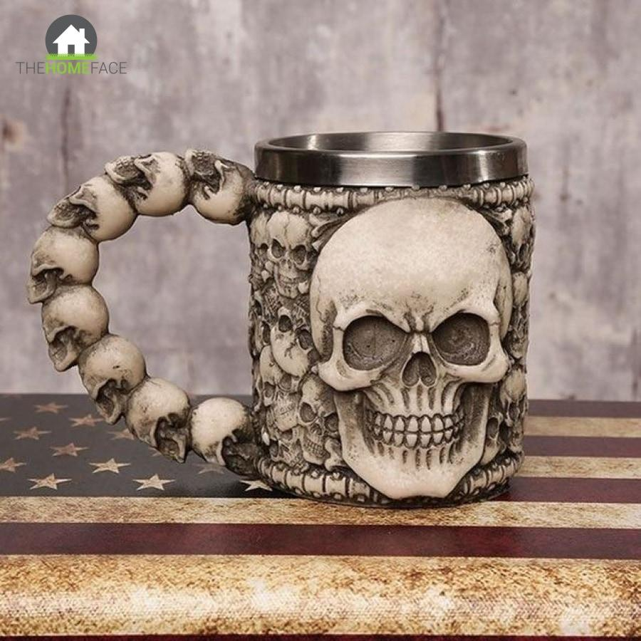 3D Axe Viking Skull Mugs