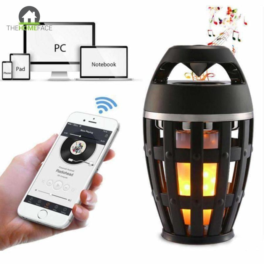 Flame Atmosphere Lamp Light Bluetooth Speaker