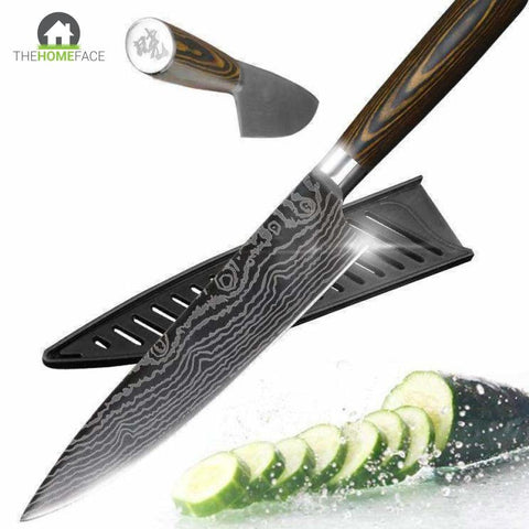 "TheHomeFace Japanese Handmade 8"" Kitchen & Chef's Knife"