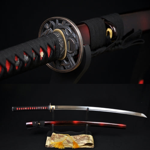 Japanese Samurai Sword KATANA 1060High Carbon Steel Can Cut Tree - Handmade Katanas Samurai Swords For sale