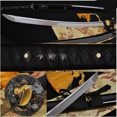 1060 High Carbon Steel Japanese Samurai Battle Ready Dragon Sword #219