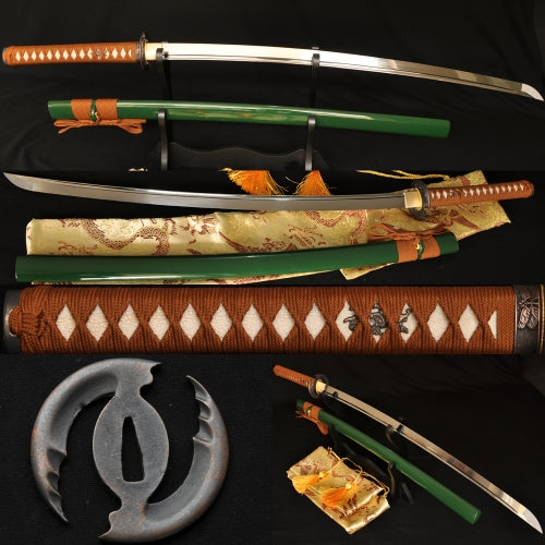 Hand Forged High Carbon Steel Japanese Samurai Sword Full Tang Blade #219 - Handmade Katanas Samurai Swords For sale