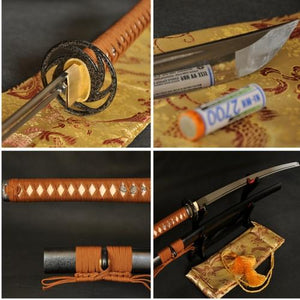 "Handmade 41"" Japanese Samurai Sword Katana Aisi 1060 Steel #125 - Handmade Katanas Samurai Swords For sale"