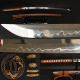 "41"" Handmade Japanese Samurai Tiger Sword Katana Clay Tempered Full Tang Blade - Handmade Katanas Samurai Swords For sale"