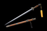 Chinese Sword Plum Blossom Hand Forged Damascus Folded Steel Blade - Handmade Swords Expert