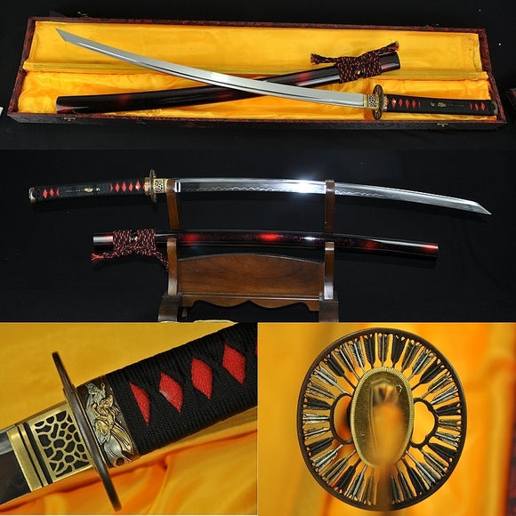 Japanese Samurai Sword Sakabato (reverse-edged Sword) Clay Tempered Blade - Handmade Swords Expert