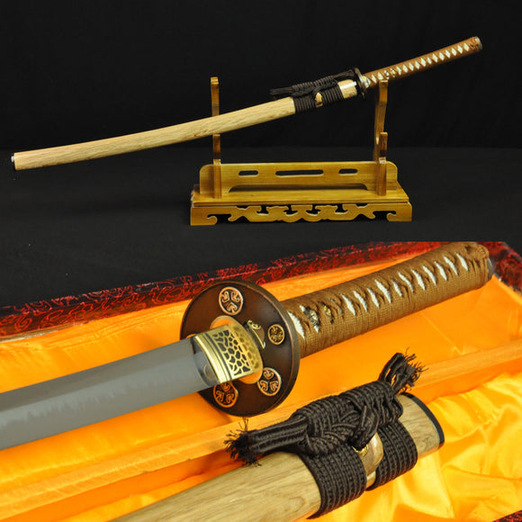 Quality Japanese Samurai Sword Katana Folded Steel Tempered Hamon - Handmade Katanas Samurai Swords For sale