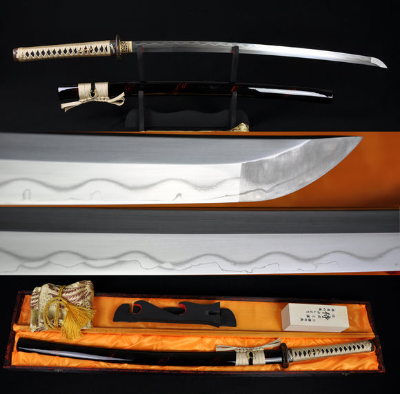 Authentic Handmade Japanese Samurai Sword Katana Kobuse Construction Blade - Handmade Katanas Samurai Swords For sale