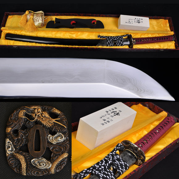 Authentic Clay Tempered Folded Steel Japanese Samurai Swords Katana - Handmade Katanas Samurai Swords For sale