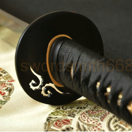 Folded Steel Clay Tempered Full Tang Blade Japanese Katana Sword - Handmade Katanas Samurai Swords For sale