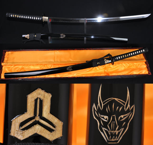 Battle Ready Katana Sword Clay Tempered Full Tang Blade - Handmade Katanas Samurai Swords For sale