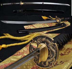 "41""Hand Forged Japanese Samurai Dragon Sword KATANA Folded Steel Full Tang Blade"