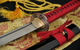 Hand Forged Japanese Samurai Practise Sword Katana Folded Steel Full Tang Blade - Handmade Katanas Samurai Swords For sale