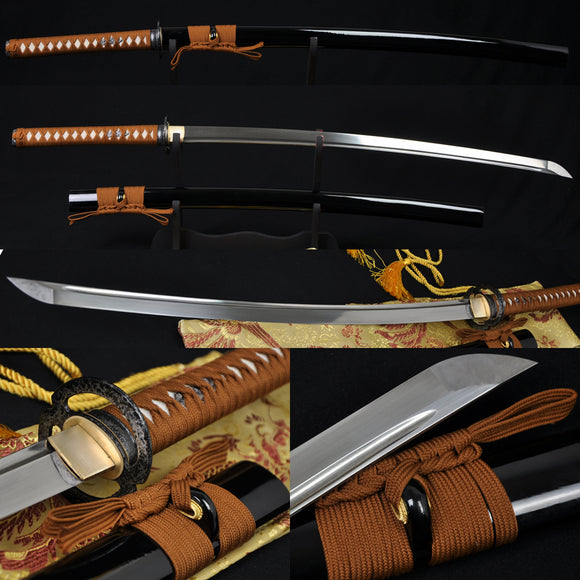 Handmade Japanese Samurai Musashi Sword Katana Folded Steel Blade - Handmade Katanas Samurai Swords For sale