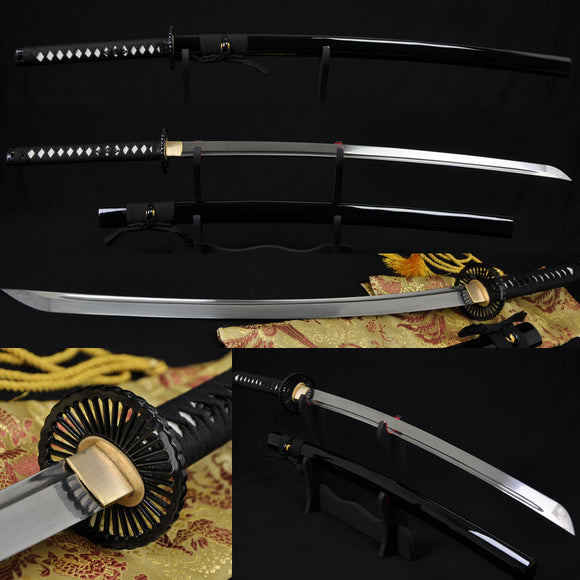 Folded Steel Full Tang Blade Japanese Samurai Sword KATANA VerySHAR - Handmade Katanas Samurai Swords For sale