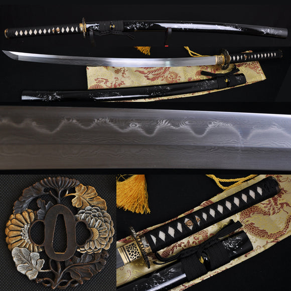 Clay Tempered Full Tang Blade Japanese Samurai Sword Katana - Handmade Katanas Samurai Swords For sale