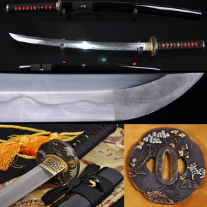 Top Quality Clay Tempered Folded Steel Full Tang Blade Japanese Samurai Sword Wakizashi