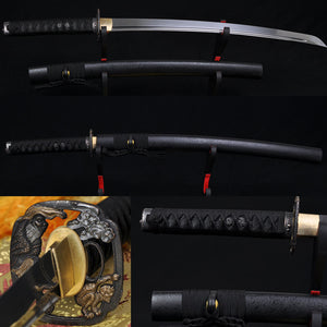 "Handmade 31"" Japanese Samurai Sword Wakizashi Folded Steel Blade - Handmade Katanas Samurai Swords For sale"