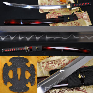 "31"" Handmade Japanese Samurai Wakizashi Sword Tempered Forged - Handmade Katanas Samurai Swords For sale"