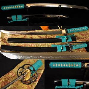 Clay Tempered Japanese Battle Ready Wakizashi Sword