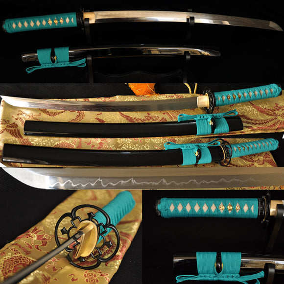 Clay Tempered Japanese Battle Ready Wakizashi Sword - Handmade Katanas Samurai Swords For sale