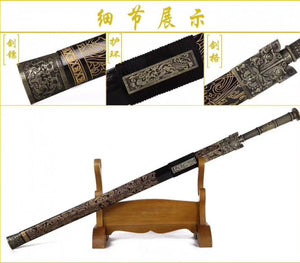 Chinese Han Dynasty Sword Traditional Handmade Black Blade - Handmade Katanas Samurai Swords For sale