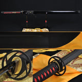 "41"" Handmade Japanese Samurai Ninja Sword Black Full Tang Hand Forged - Handmade Katanas Samurai Swords For sale"