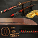 Japanese Samurai Katana Sword Folded Steel Blade Musashi Authentic - Handmade Katanas Samurai Swords For sale