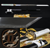Clay Tempered Kiriha-zukuri Blade Katana Japanese Ninja Samurai Swords - Handmade Swords Expert