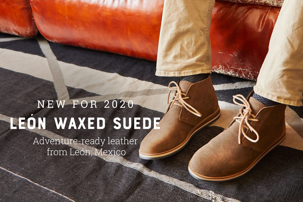 New for 2020 León Waxed Suede Leather