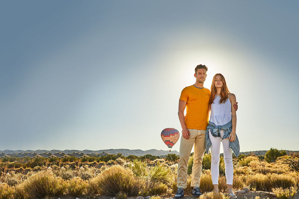 Hari Mari Couple on Santa Fe hot air balloon adventure