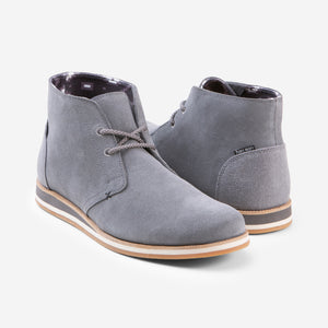 Adobe Desert Boot - Mens - Charcoal - 45 Degree View