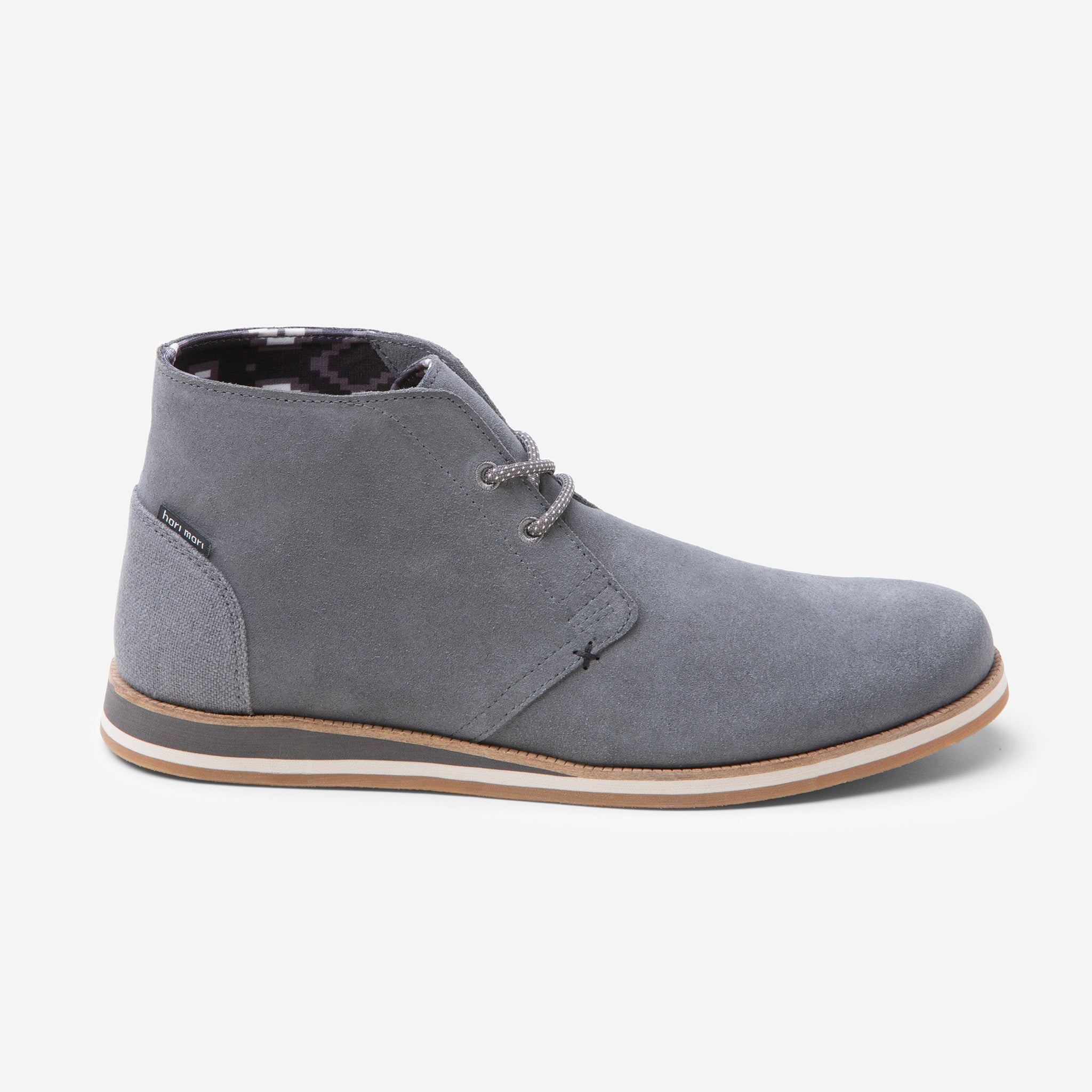 Adobe Desert Boot - Mens - Charcoal - Side View