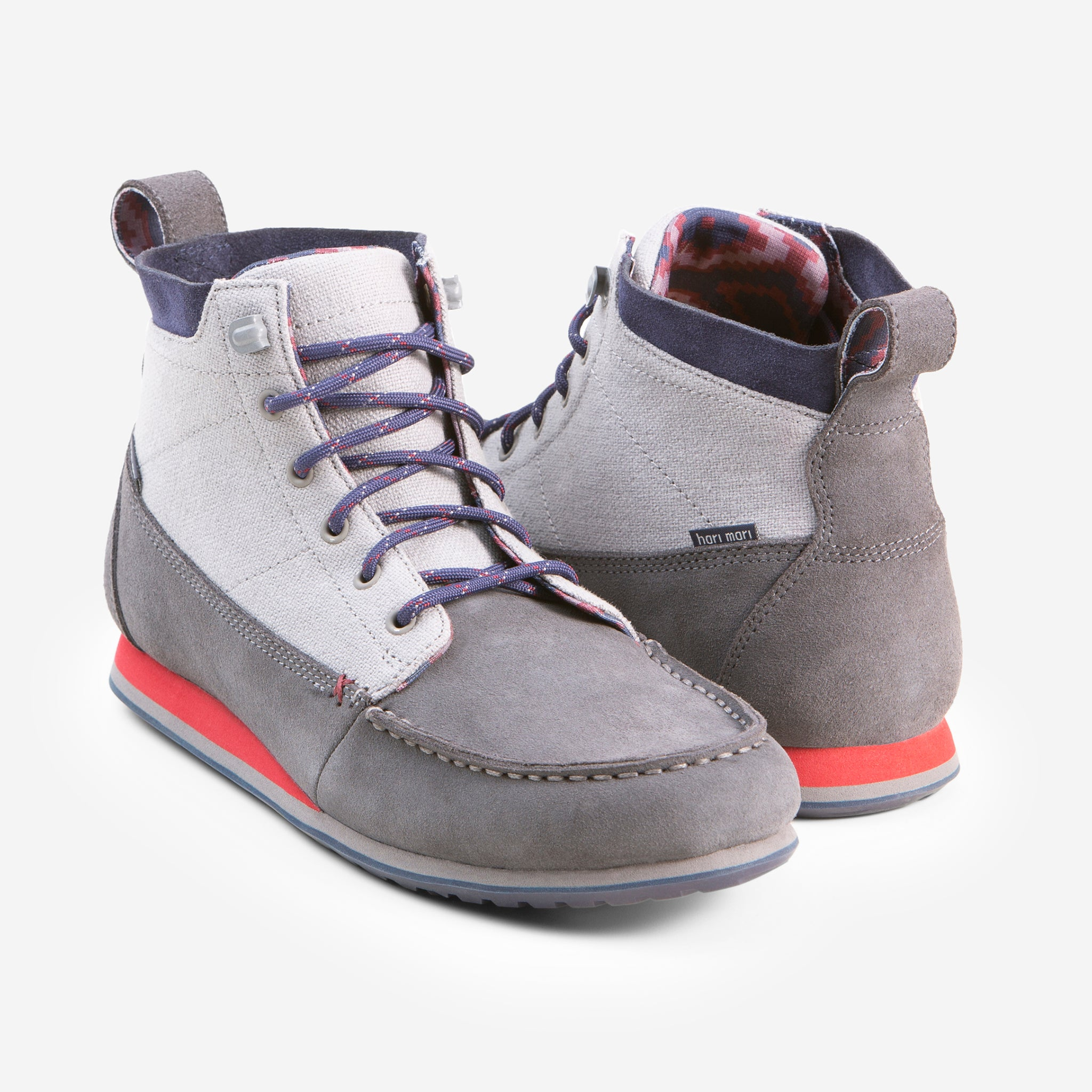 CanyonTreck Chukka - Men's - Gray - Front and Back View Image