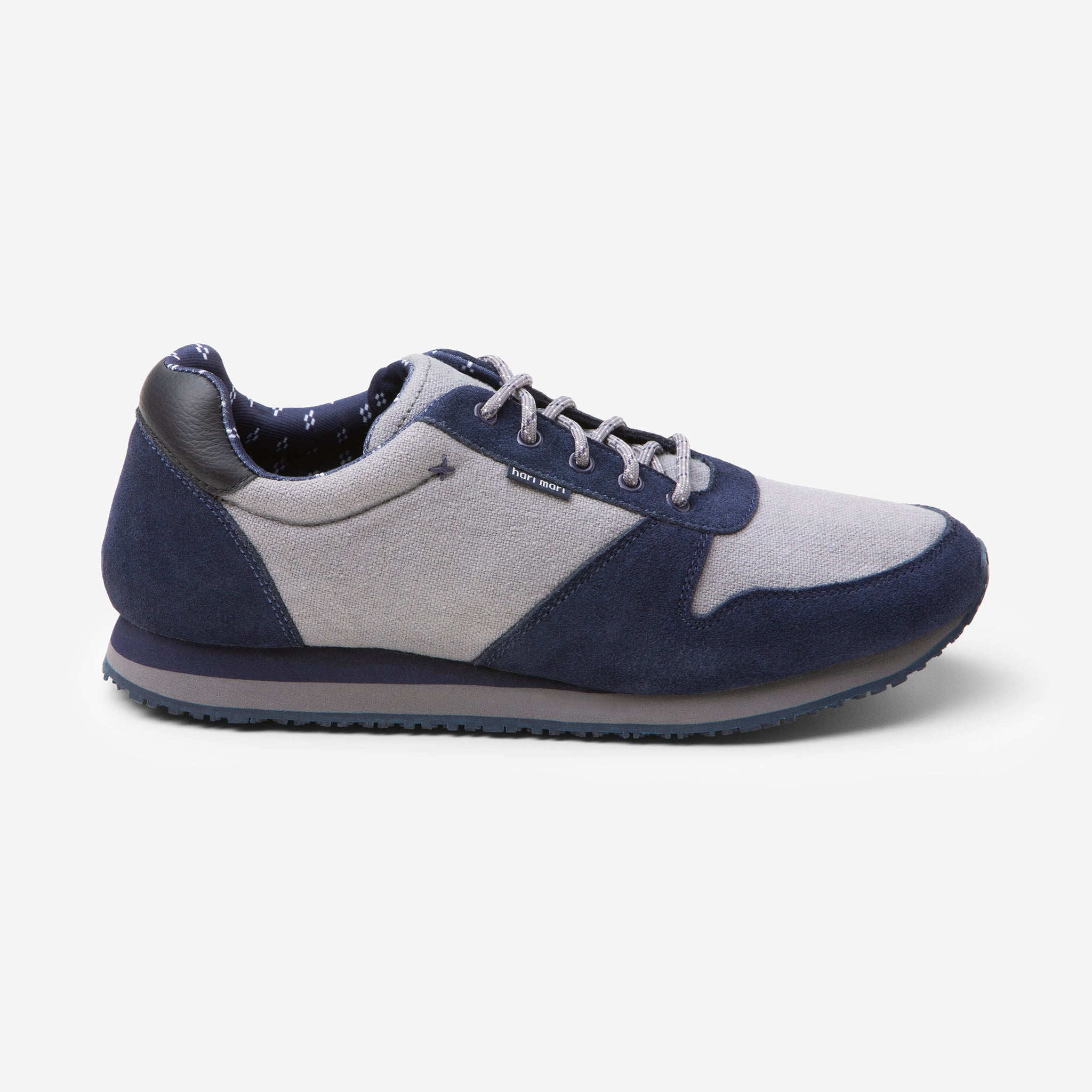 Dos Santos Retro Runner - Mens - Navy - Side View