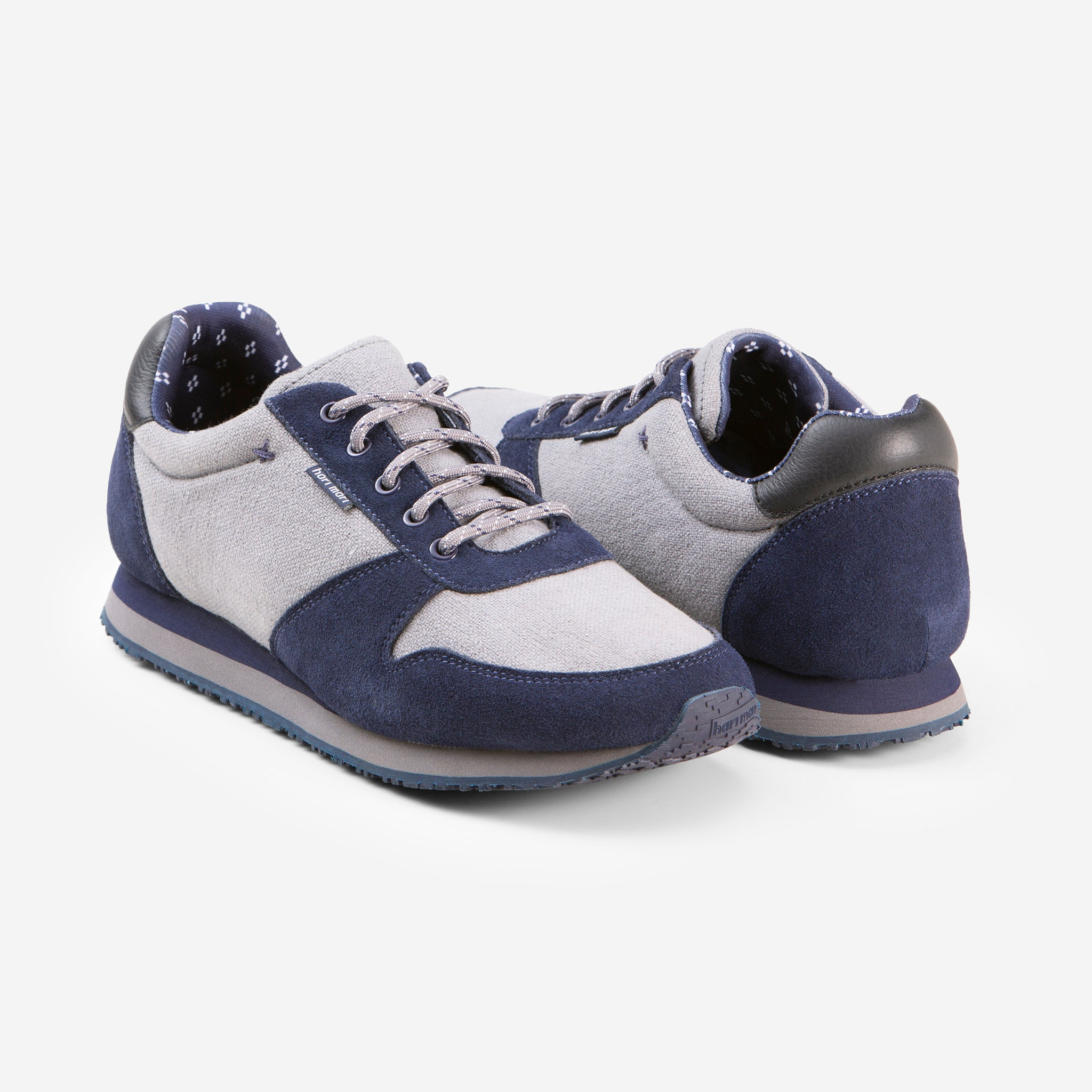 Dos Santos Retro Runner - Mens - Navy - 45 Degree View