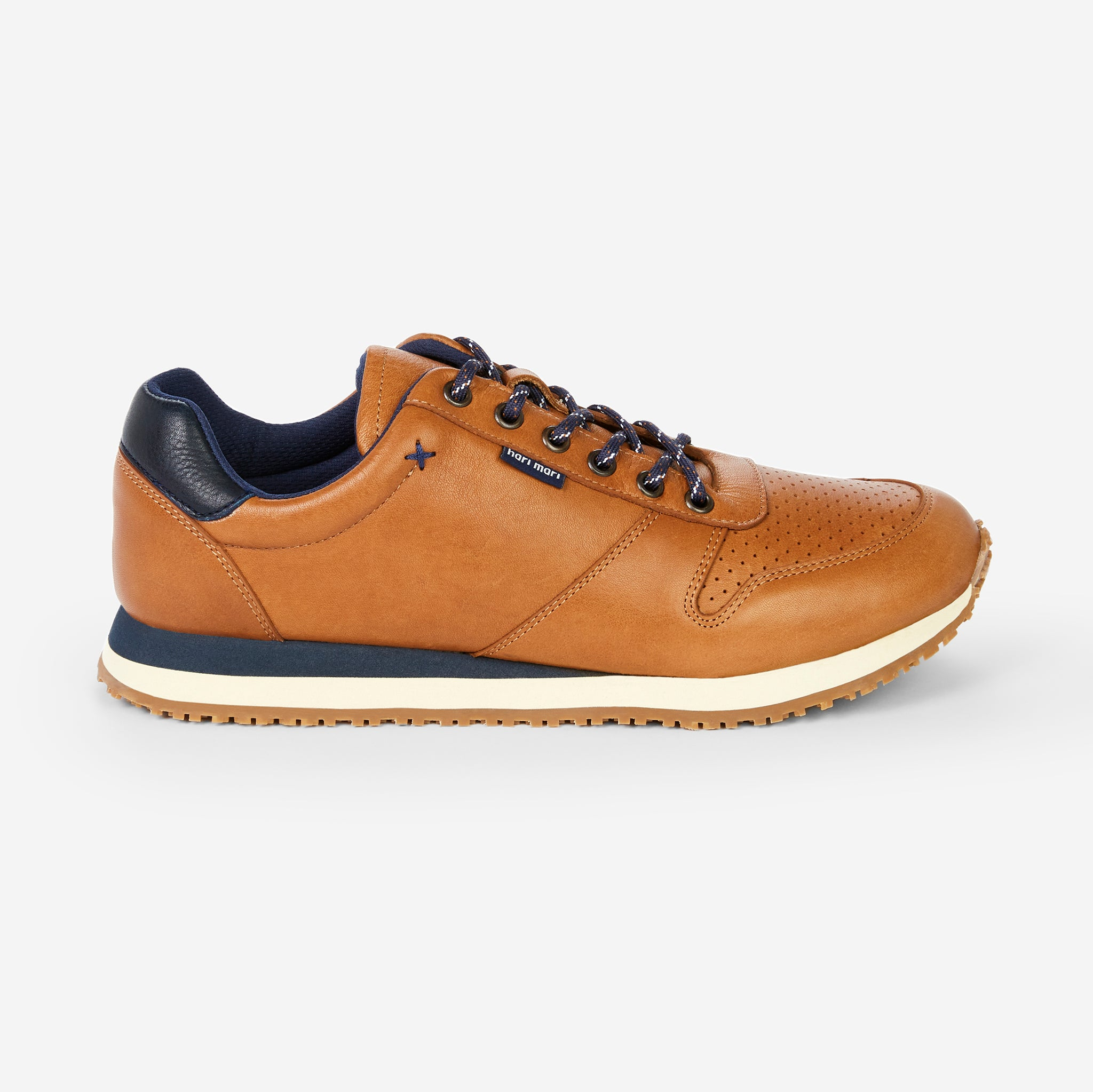 side profile of Dos Santos LX Retro Runner Men's in color Wheat on white background