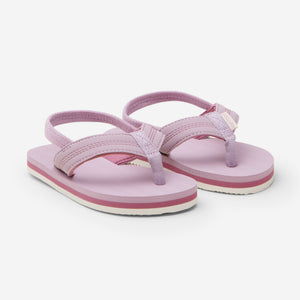 Hari Mari's Kids & Youth Brazos flip flops in mauve/rose on white background