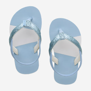 Hari Mari Kids Meadows Asana Glitter in Light Blue on White background