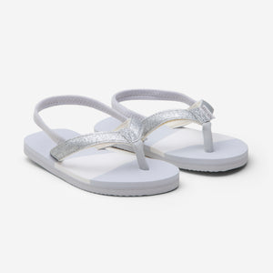 Hari Mari Kids Meadows Asana Glitter in Light grey on white background
