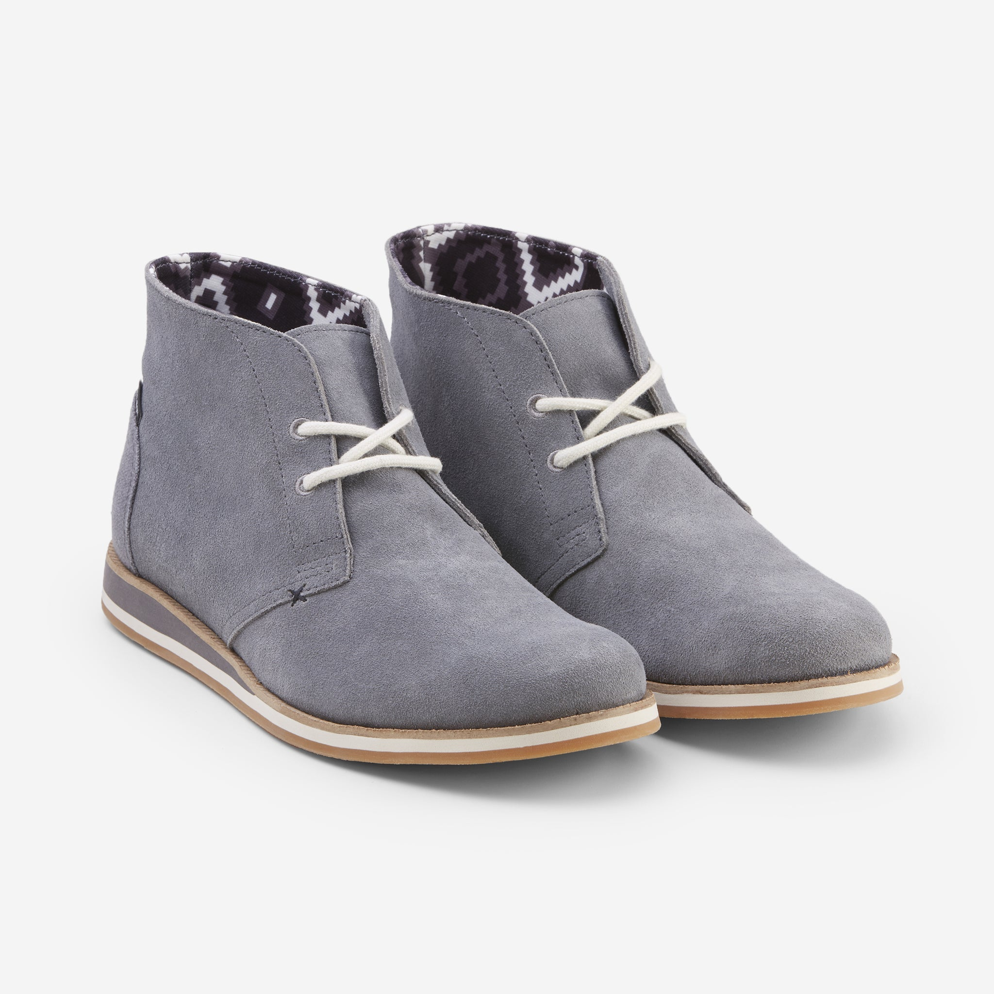 Adobe Desert Boot-Mens-Charcoal-Front View
