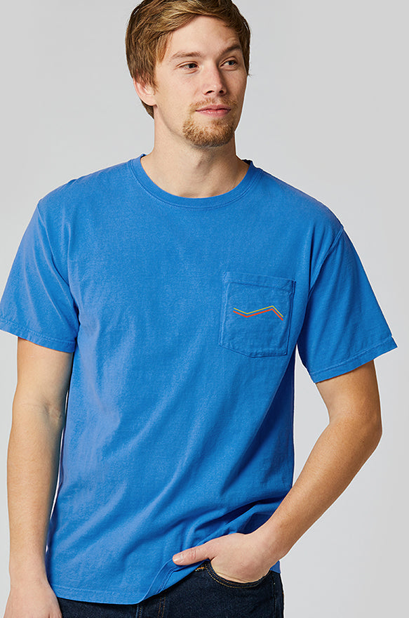 Canyon Tee | Short Sleeve with Pocket | Powder Blue