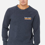 Caprock Tri-Blend Crew-Neck Unisex Heather Navy Main Image