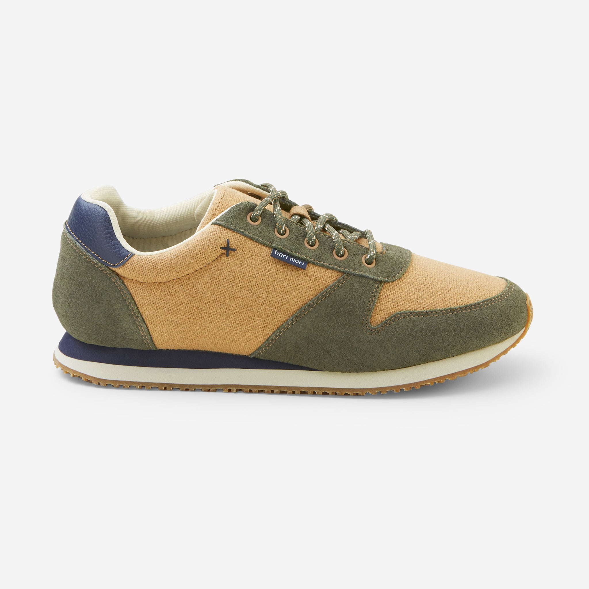 Dos Santos Retro Runners-Mens-Army-Side View