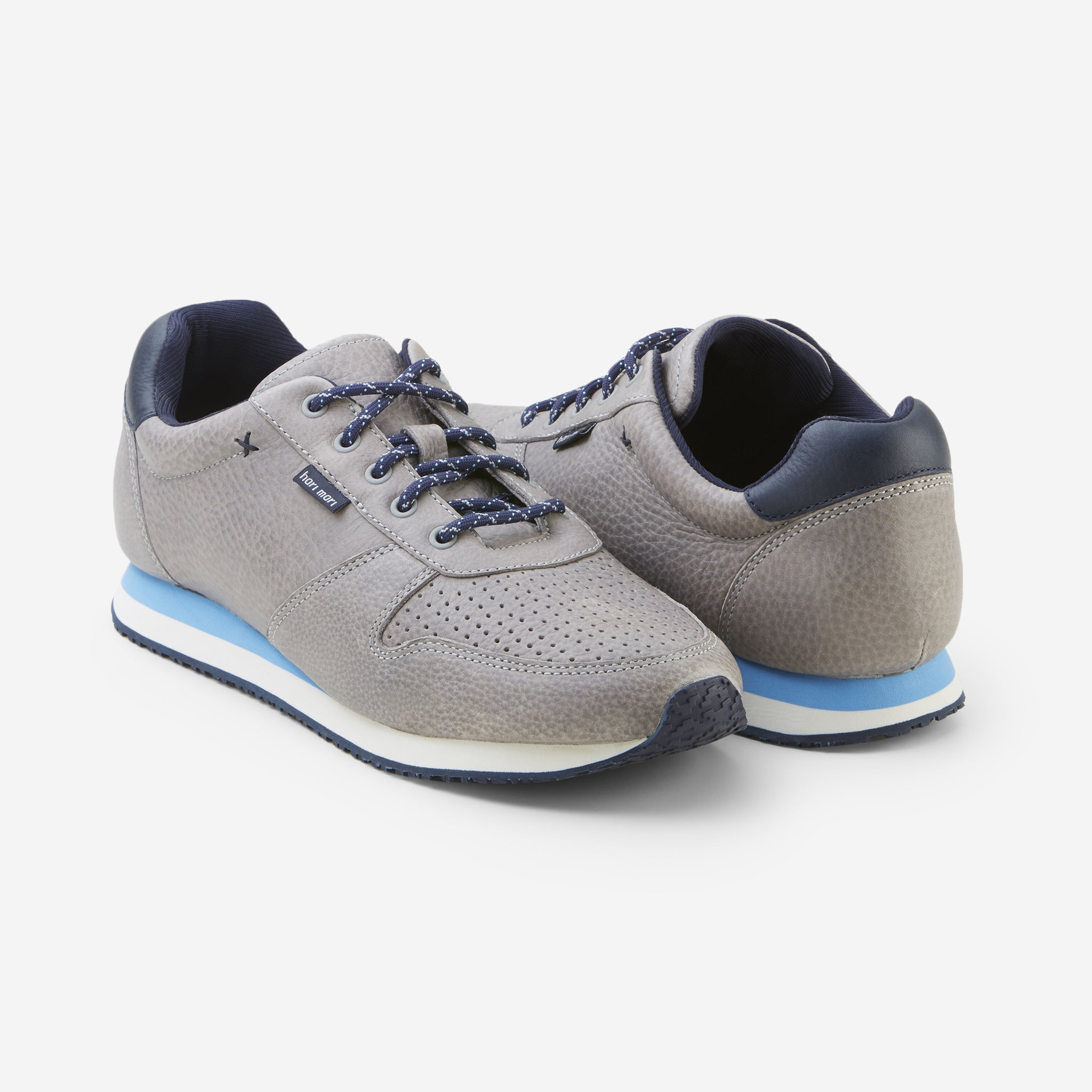 Dos Santos LX Retro Runner-Mens-Granite-Front and Back View