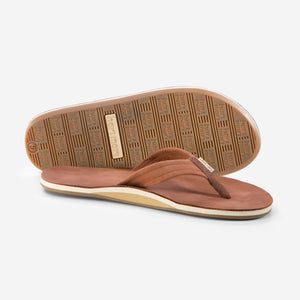 Fields - Mens - Brown / Gum - Side and Bottom View